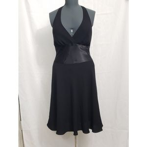 Black cocktail dress- Women's  Tuxedo Dress
